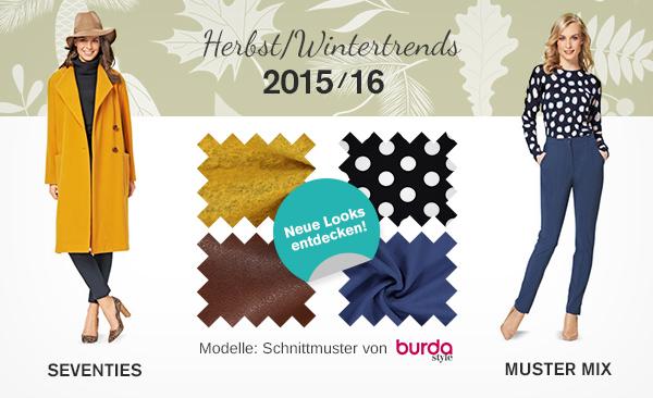 Modetrends Herbst/Winter 2015/16 - jetzt passende Stoffe bei stoffe.de finden