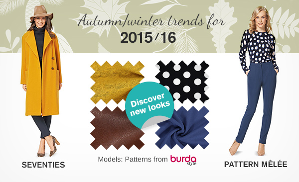 Fashion trends for autumn/winter 2015/16 – Find the right fabrics at myfabrics.co.uk now!