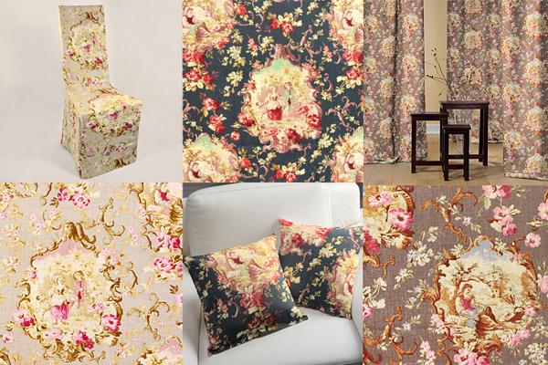 Toile linen fabrics