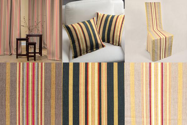 Toile stripe fabrics