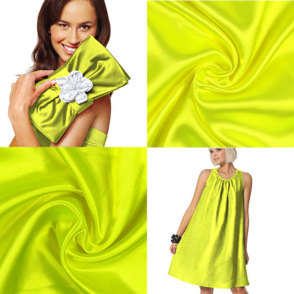 Satin in giallo neon