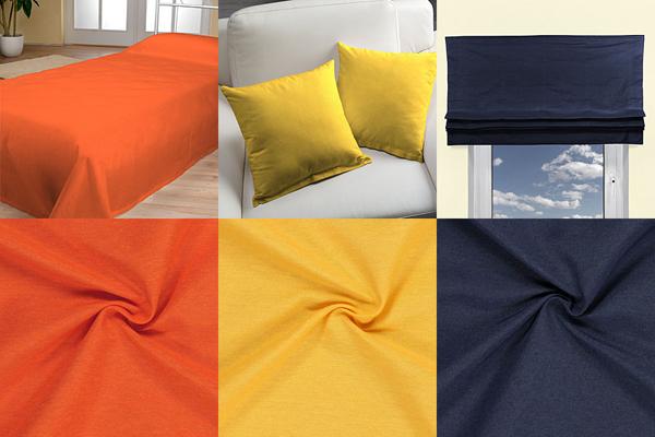 Tecidos decorativos de uma cor