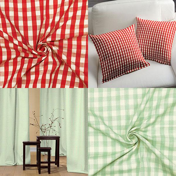 Checked decoration fabrics