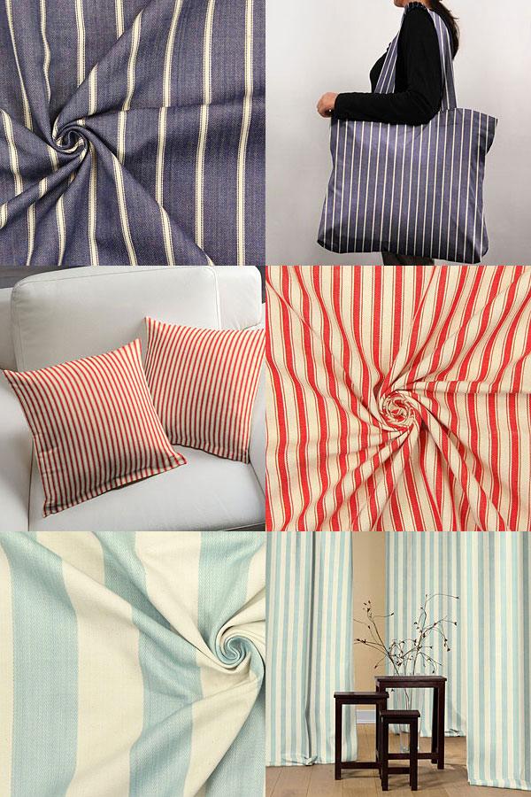 Tkaniny dekoracyjne w paski