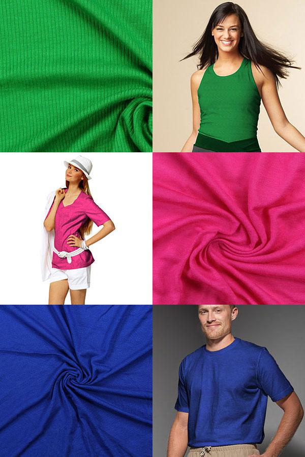 Tecidos de jersey reduzidos