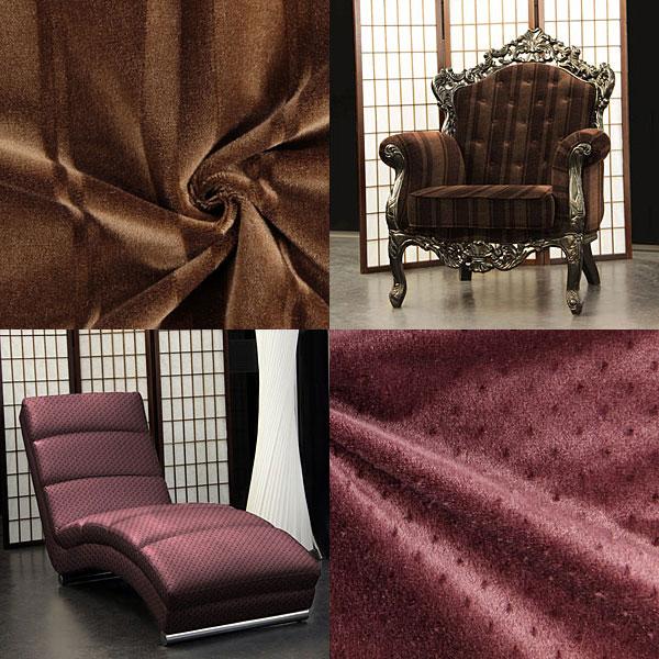 Tecidos de mobiliário Mohair reduzidos