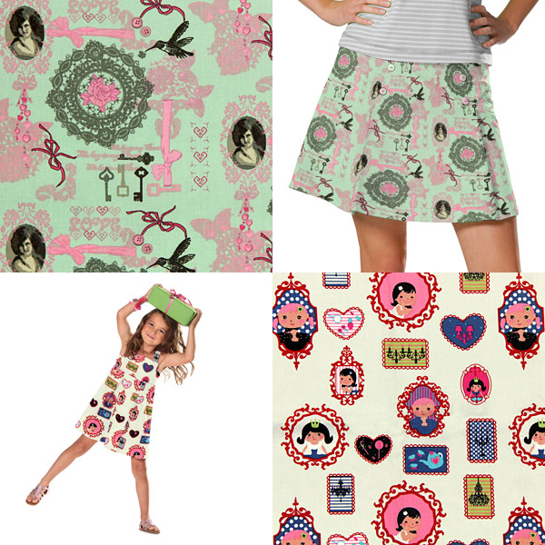 Children's fabrics for girls