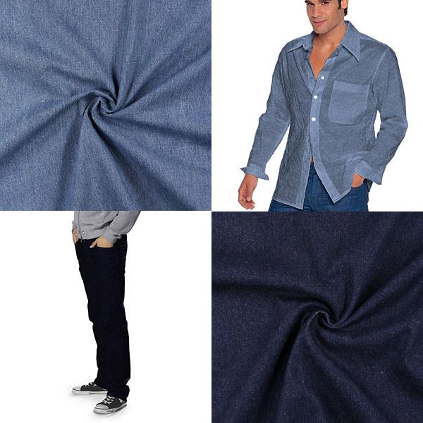 Tecidos de jeans