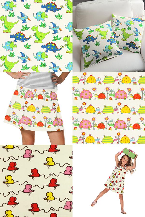 Telas de algodón para niños