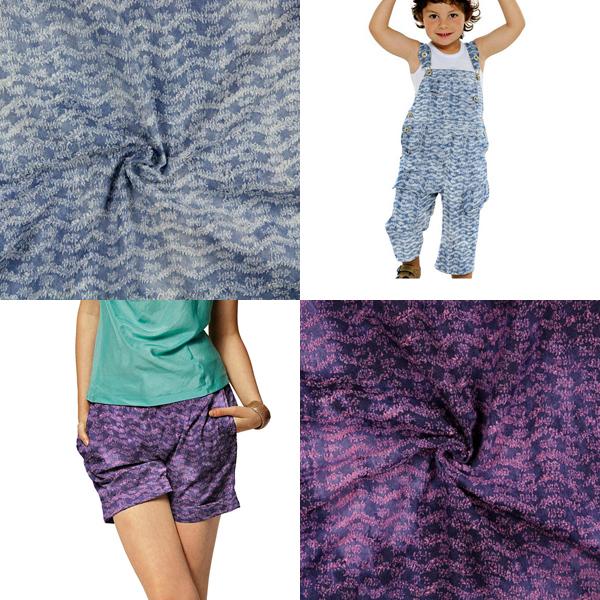 Tessuti in jeans effetto usato