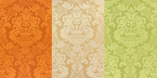 Decoration fabrics with ornamental designs