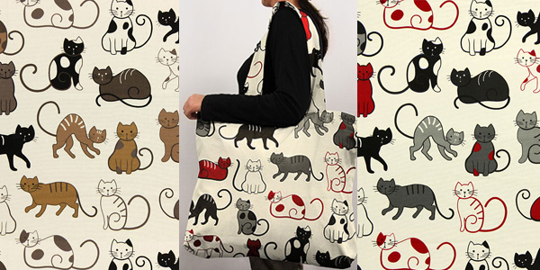 Dekotyg med kattmotiv