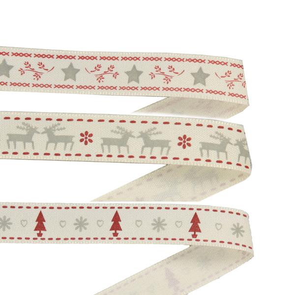 Christmassy woven ribbons