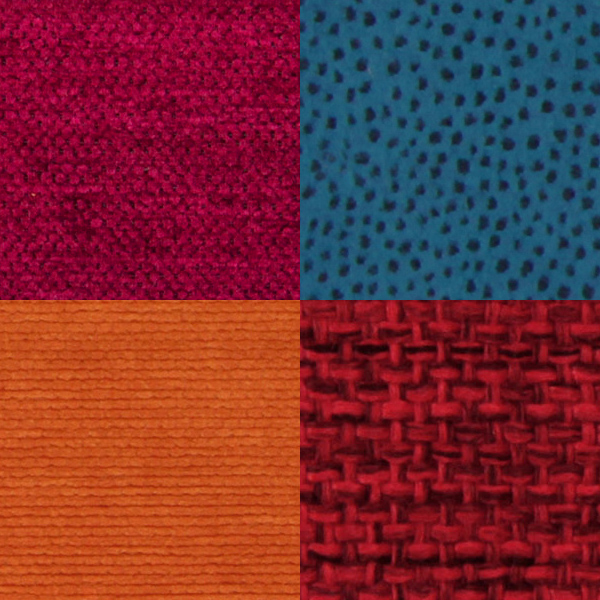 Upholstery fabrics in many colors