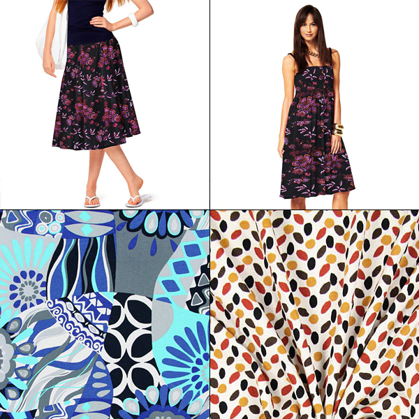 patterned jersey fabrics