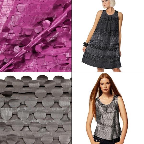 Telas para ropa con aplicaciones revoloteando