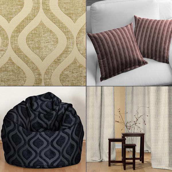 Elegantes tecidos decorativos