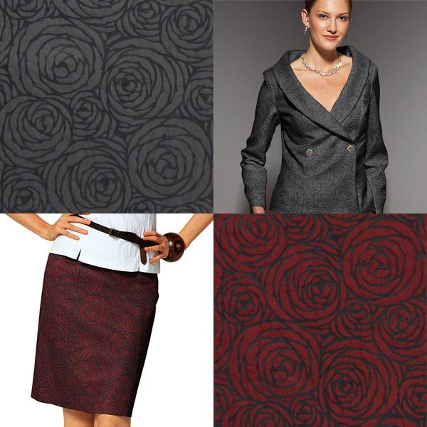 Tecidos de vestuário com rosas
