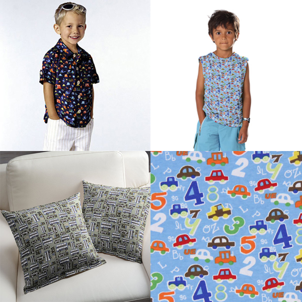 Tkaniny dla chłopców