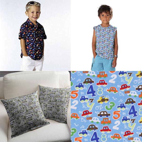 Tecidos para rapazes