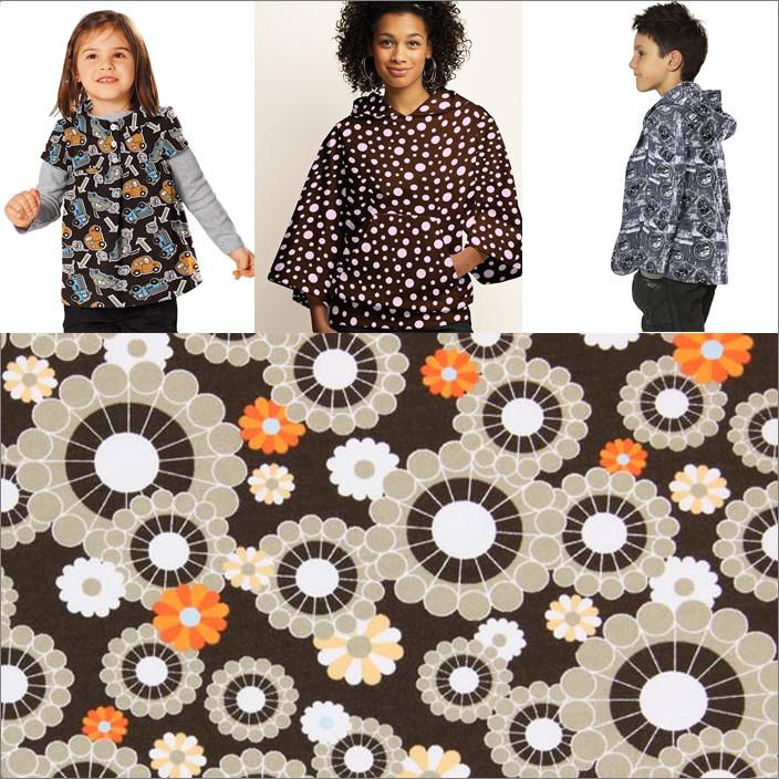 Sweatshirtstoffer med mønster