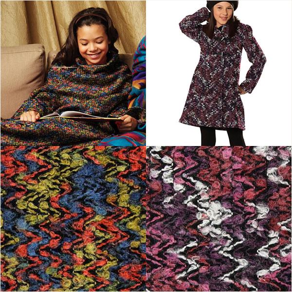 Stylish zig-zag fabrics