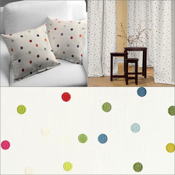 Telas de lino con puntos