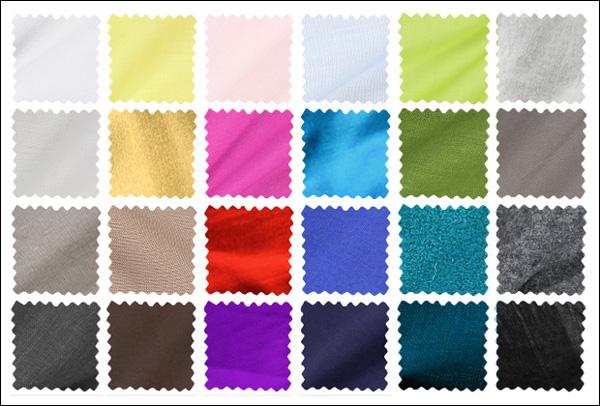 I tessuti standard disponibili in nuove tonalità