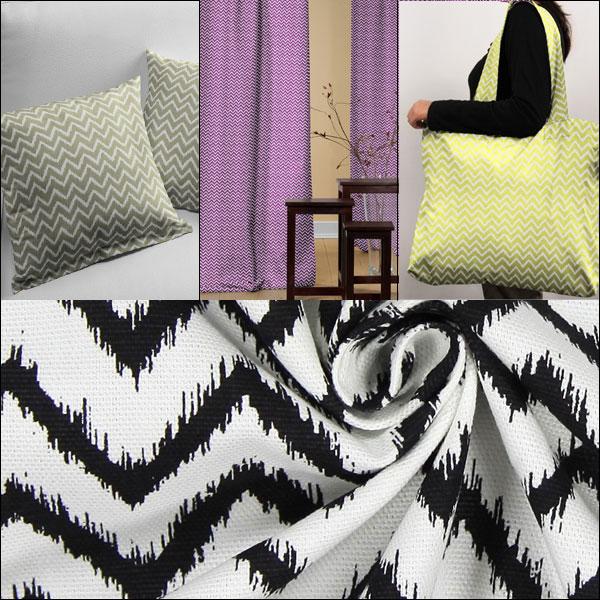 Tkaniny dekoracyjne ze wzorem chevron