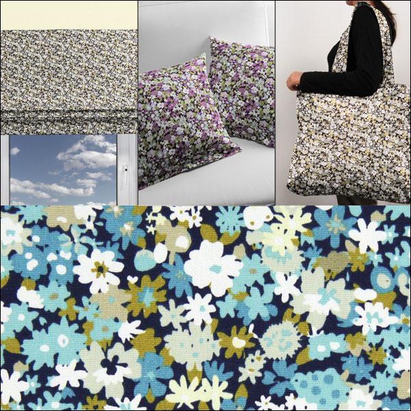 Tkaniny dekoracyjne ze wzorem millefleur