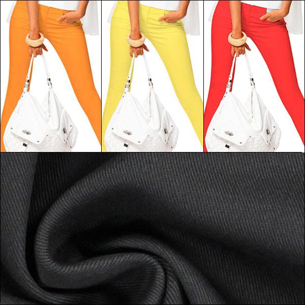 Novas cores: Sarja de algodão Stretch