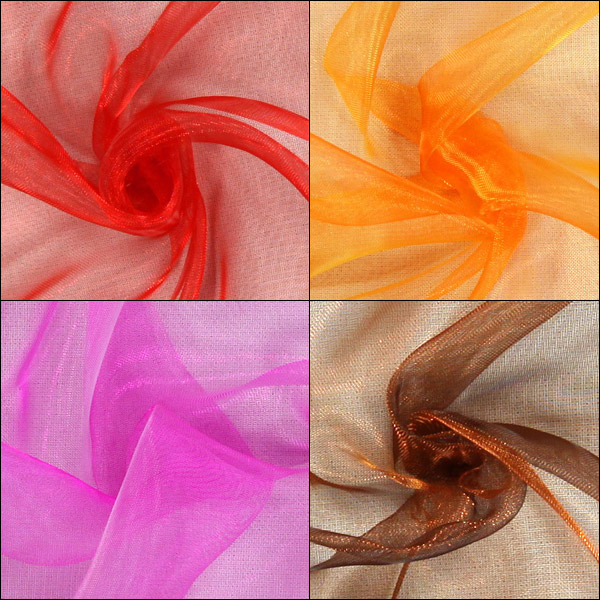Nouvelles couleurs d'organza