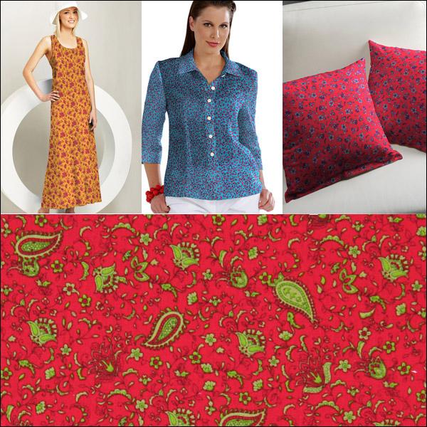 Tessuti in cotone orientaleggianti