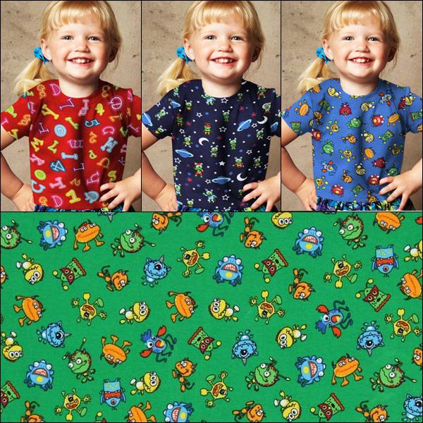Tessuti jersey con motivi bambino