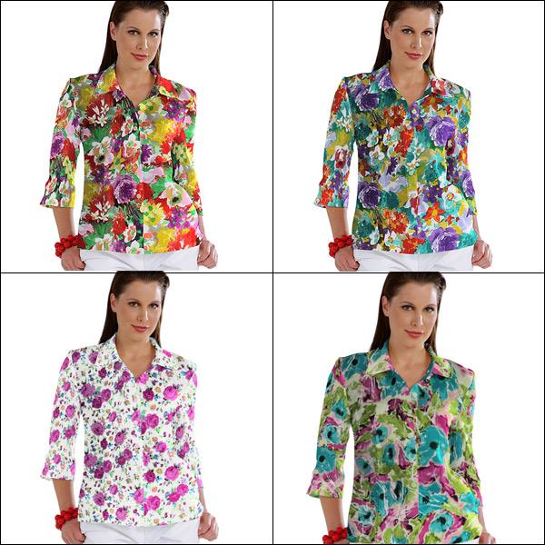 Kolorowe tkaniny bluzkowe