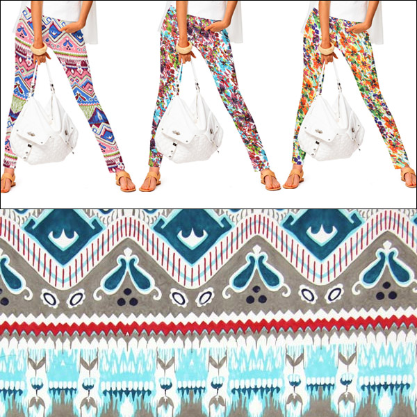 Wzorzyste tkaniny ze streczem