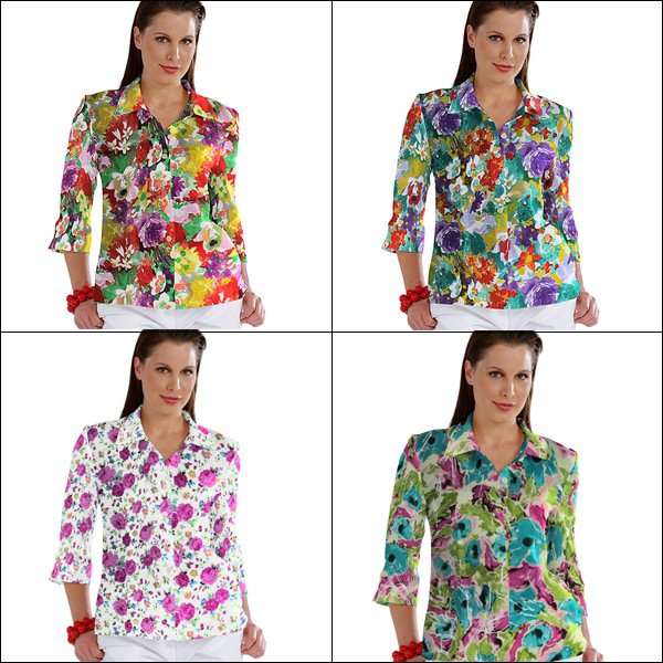 Coloridos tecidos para blusas
