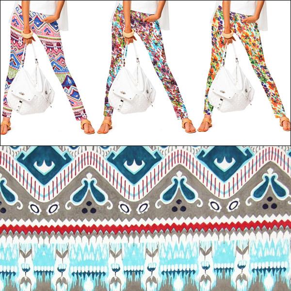 Tecidos elásticos com padrões