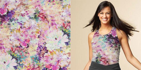 Jersey avec motifs à fleurs