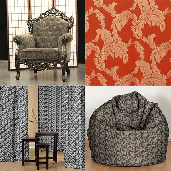 Tessuti arredo con motivi ornamentali