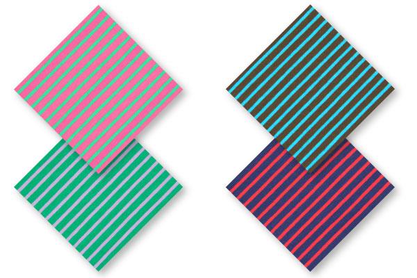Striped jersey fabrics