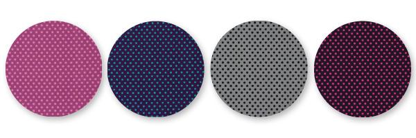 Telas de algodón con puntos