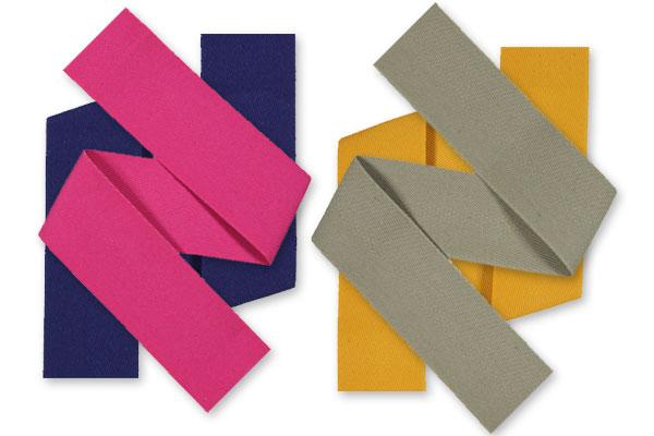 Cache-couture et ruban pour sac