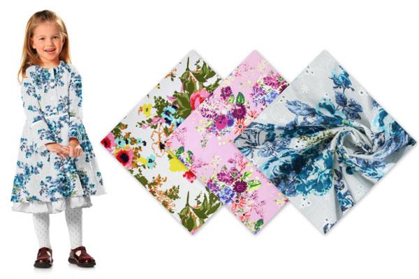 Tissus coton à fleurs