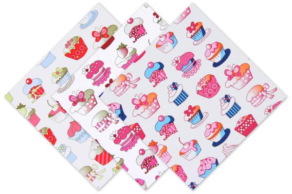 Tecidos de algodão com Cupcakes