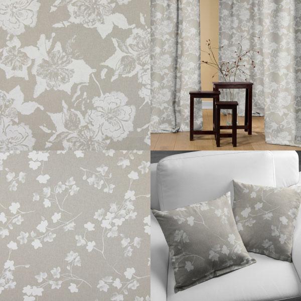 Tecidos decorativos com flores
