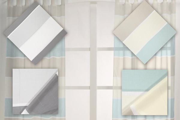 Tecidos para cortinas com riscas