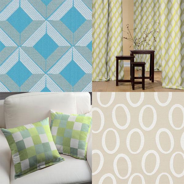 Decoration fabrics with retro patterns