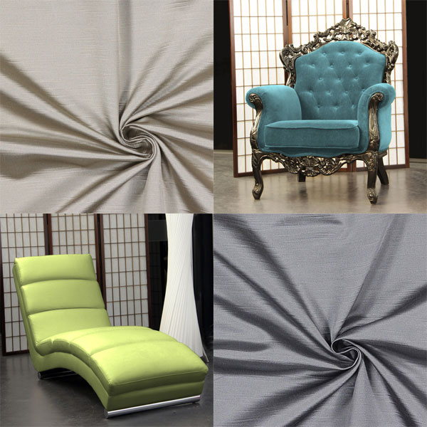 Furniture fabrics in a dupioni look