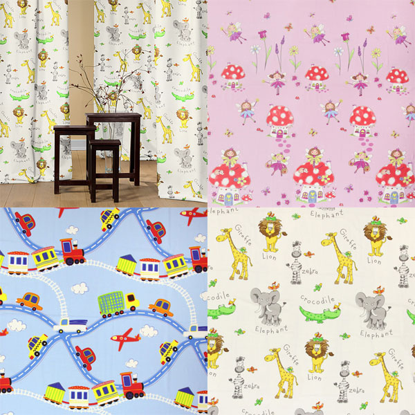 Room-high decoration fabrics with cute designs